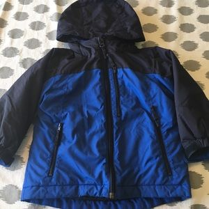 2T Boys Winter Coat Blue 2 Piece Parka Jacket